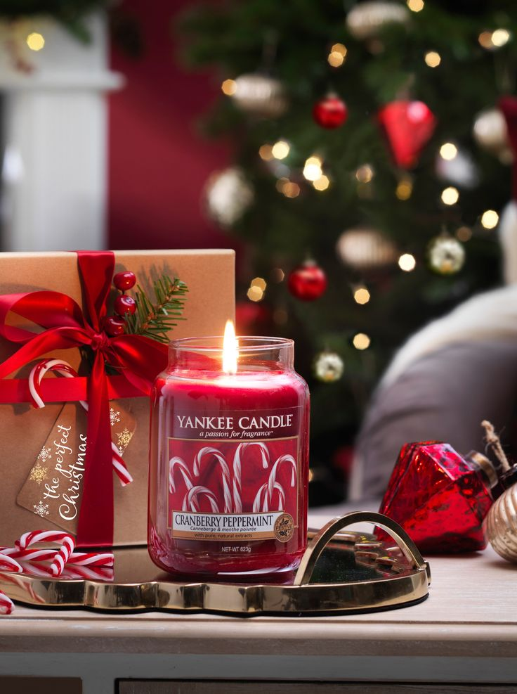 Limitovaná edice Yankee Candle Cranberry Peppermit