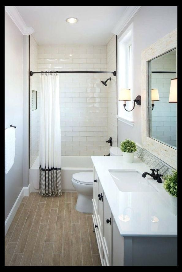 Modern Small Bathroom Ideas With Tub Upstairs Guest Bath White Is Simple And Classic For Home In 2020 Bathroom Layout Small Bathroom Bathroom Design