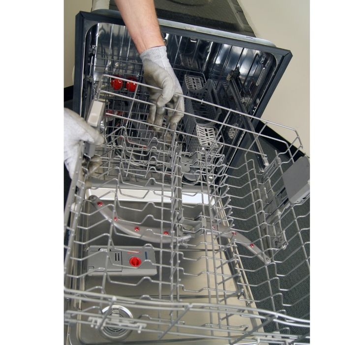 How to replace a dishwasher upper rack height adjuster