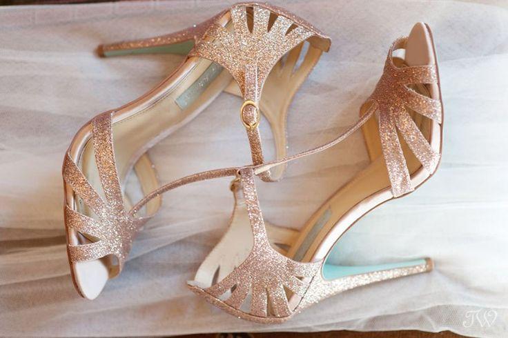 sparkly Betsey Johnson wedding shoes captured by Tara Whittaker Photography   Calgary wedding photographer