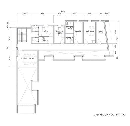 Asahicho Clinic,Second Floor Plan