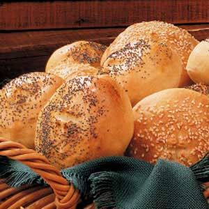 Kaiser Rolls Recipe -These rolls can be enjoyed plain with soup or used for sandwiches. I make them at least once a month. This recipe earned me a blue ribbon at the county fair.
