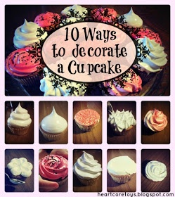HEARTCORE: 10 easy ways to decorate cupcakes