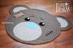 CROCHET PATTERN Classic Bear Crochet Rug Mat Nursery Carpet Crochet PDF Pattern Instant Download op Etsy, 4,05€