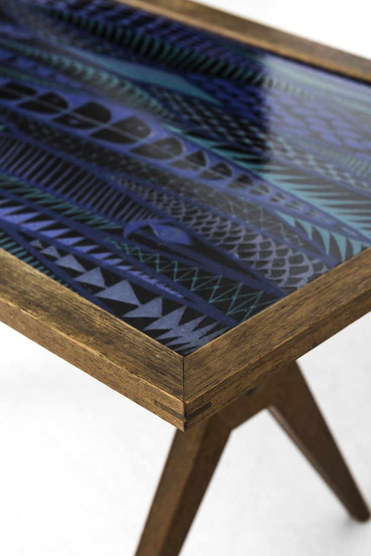 Stig Lindberg coffee table with enamel top at Studio Schalling