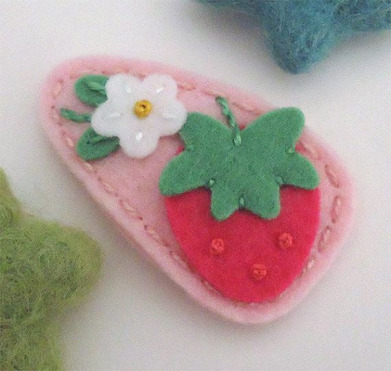 Hey, I found this really awesome Etsy listing at https://www.etsy.com/listing/261707787/felt-hair-clip-no-slip-wool-felt