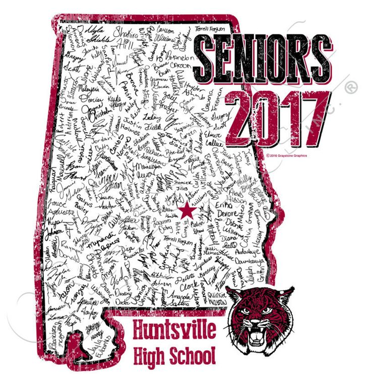 Graduation!  Seniors 2017.  Alabama!!!  Show where YOU'RE from with this senior class shirt exclusively from Graystone Graphics.