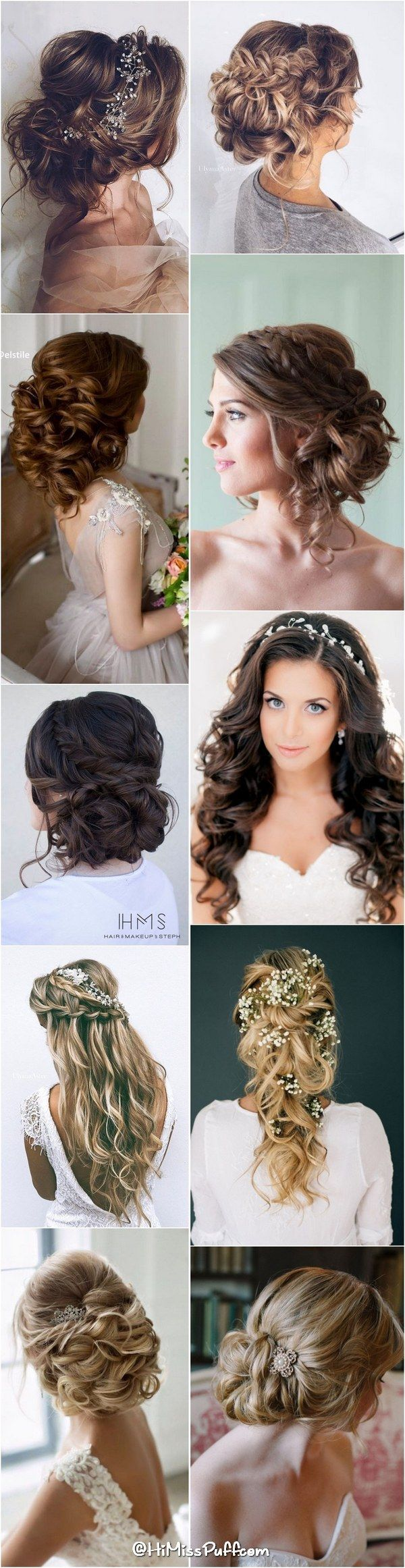 nice Bridal Wedding Hairstyles for Long Hair That Will Inspire / www.himisspuff.co......