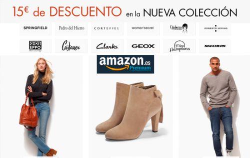 Cupón descuento de 15€ en novedades de moda en Amazon