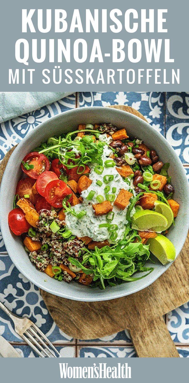 Mit dieser vegetarischen Allrounder-Schüssel kommt jeder auf seine Kosten. Sie stecken …   – Kochen