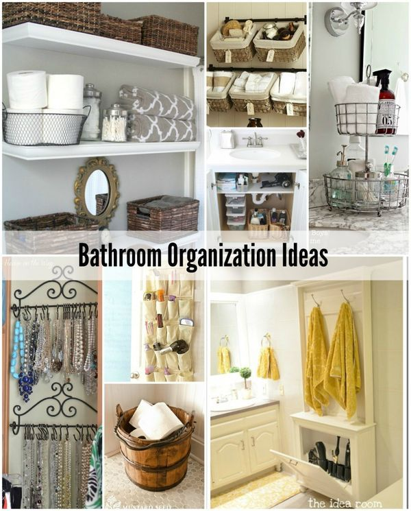 17 best images about organizing bathroom on pinterest for Bathroom closet storage ideas