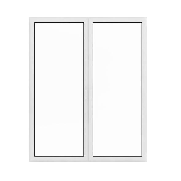 White Window (209.5 x 171 cm). House 3D model. #3D #3DModel #3DDesign #3DScene #architecture #building #c4d #element #exterior #interior #knob #light #max #sun #vray #window #windows