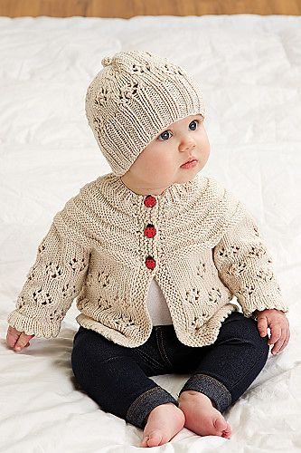 Easy Lace Raglan Jacket & Hat