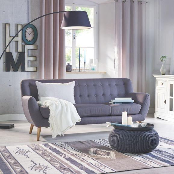 Attraktives Sofa in Dunkelgrau - stilvoll und bequem