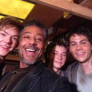 The Scorch Trials Cast (Newt, Jorge, Aris, and Thomas)