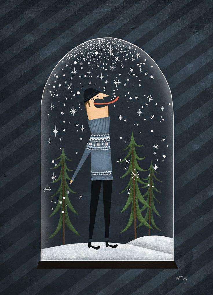 Fuidelfui Illustration Marie-Eve Tremblay: Hiver / Winter