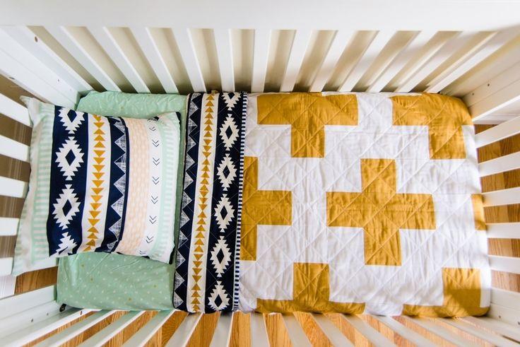 nursery bedding: modern horizon plus quilt