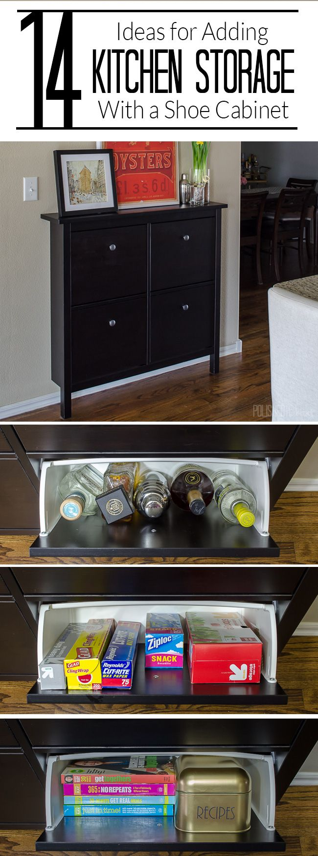 14 ways to use a shoe cabinet for extra kitchen storage for Extra kitchen storage