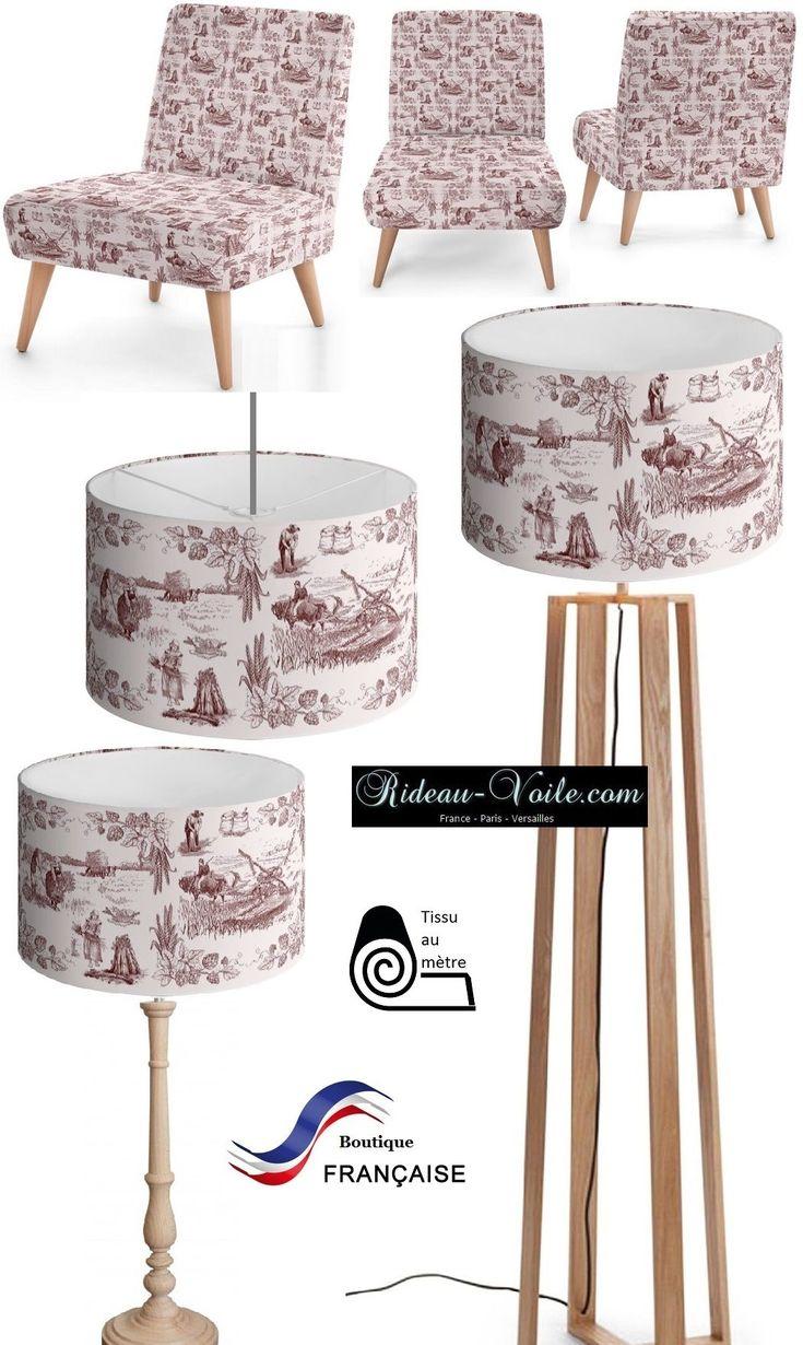 Tissu#imprimé#motif#Toile#de#jouy#abat#jour#abat-jour#luminaire#light#pattern#French#fabrics#lampshade#canvas#Paris#Versailles#