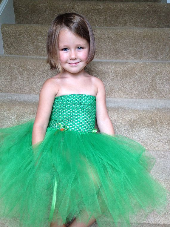 Tinkerbell inspired halloween tulle costume by AnaBeanDesigns, $34.00