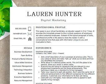 modern resume template professional resume template for word 1 2 and 3 page - Modern Professional Resume Template