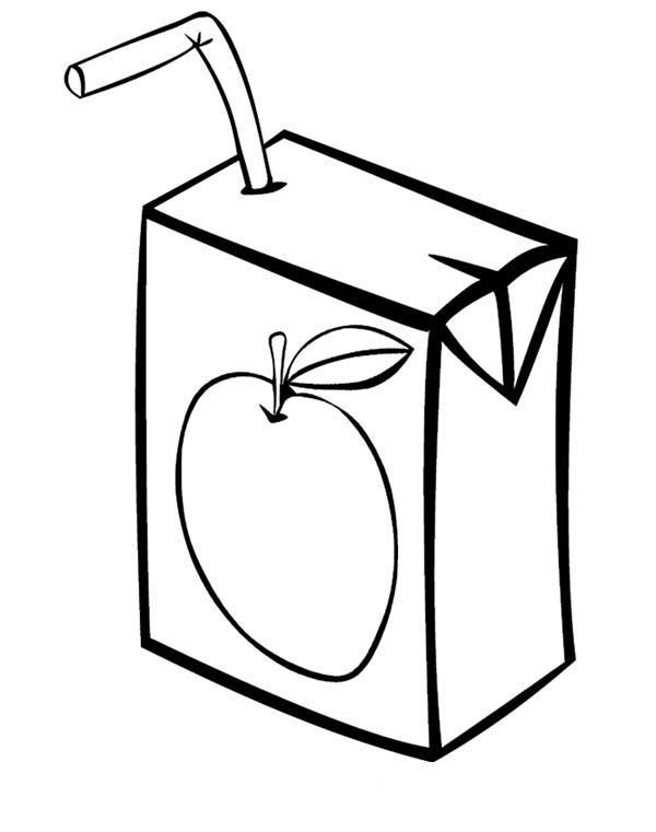 How To Draw A Juice Box : juice, Juice, Coloring, Pages,, Boxes,