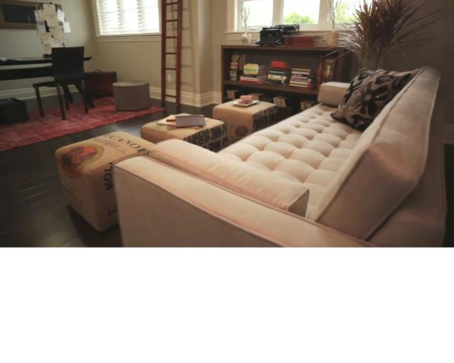 Gus* Modern | Spencer Sofa, UpCycle Ottomans U0026 Span Table Http://