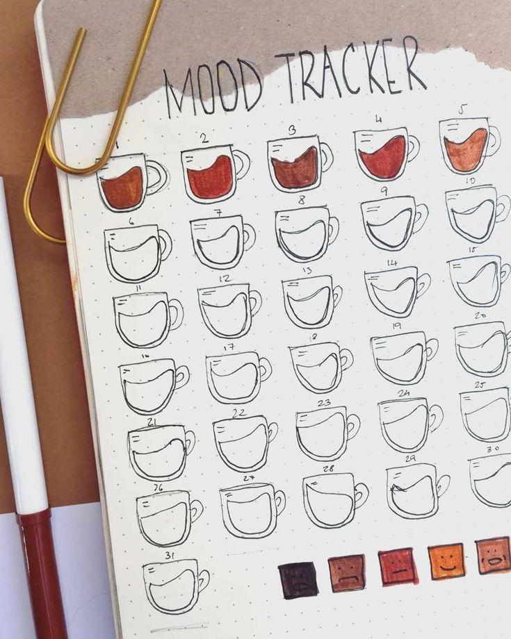30+ Bullet Journal Distinctive Humeur Tracker Idées pour vous garder mentalement équipé – #Bu …
