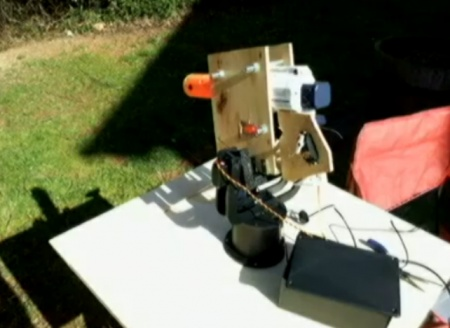 Arduino-controlled automatic anti-squirrel water turret that can avoid birds!