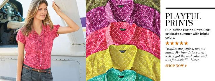Shop Women's Ruffled Button Down ShirtRuffles Buttons, Women Ruffles, Shops Women