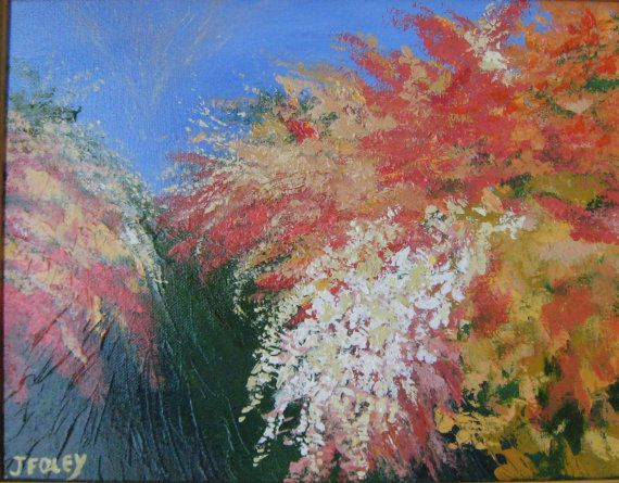 Flame azaleas Original Impressionist painting  by jFOLEYart, $249.00