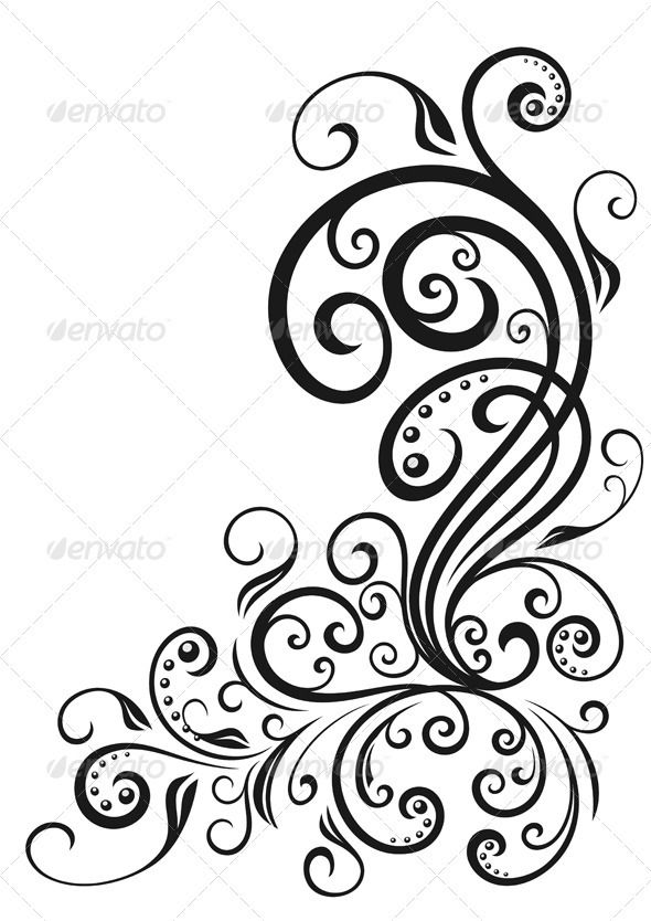The 25 best swirl tattoo ideas on pinterest for Swirl tattoo designs