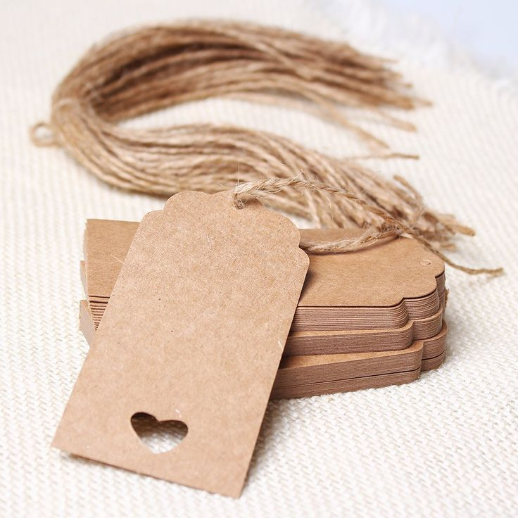 Amazon.com: Icibgoods Brown Kraft Paper Scalloped Edge Tag Hang Tags Wedding Party Favor Punch Label Price Gift Cards: Health & Personal Care