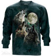Dlhý rukáv Tri vlky vyjúce na mesiac