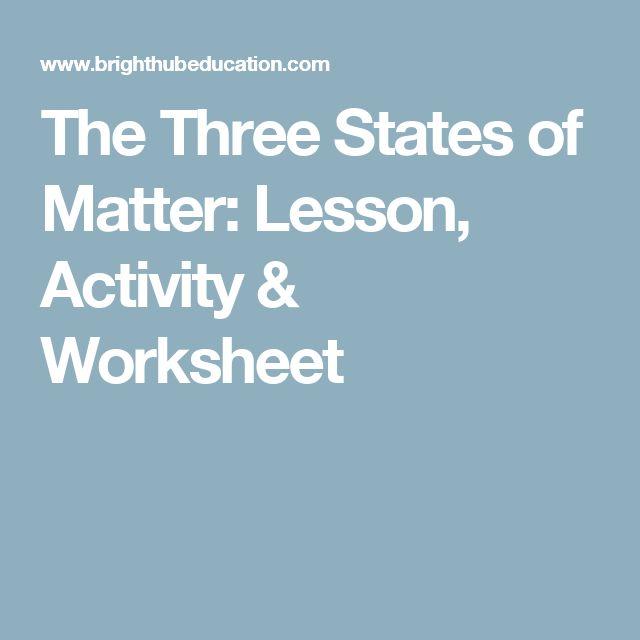 states of matter activity pdf