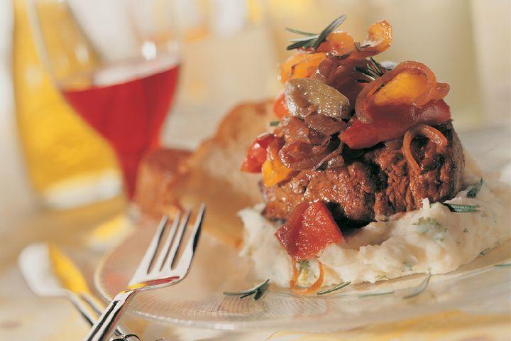 Biefstuk met peperonata