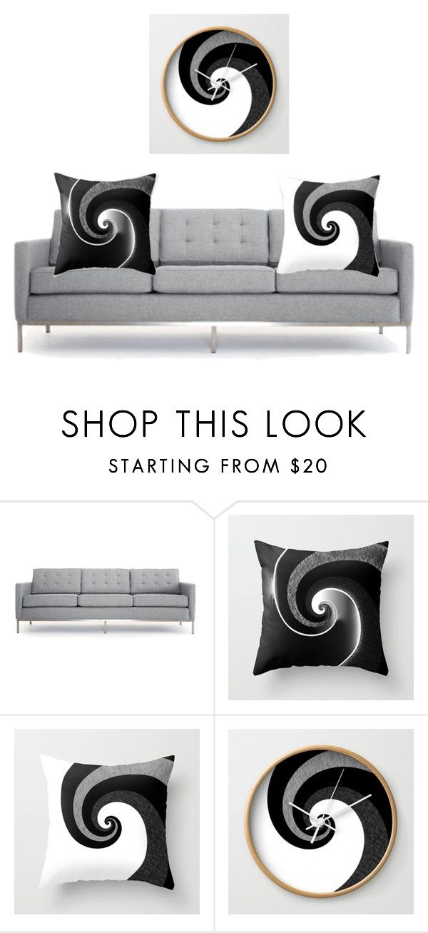 """Living room"" by cocodes on Polyvore featuring interior, interiors, interior design, home, home decor, interior decorating, Joybird, living room, blackandwhite and homedecor"