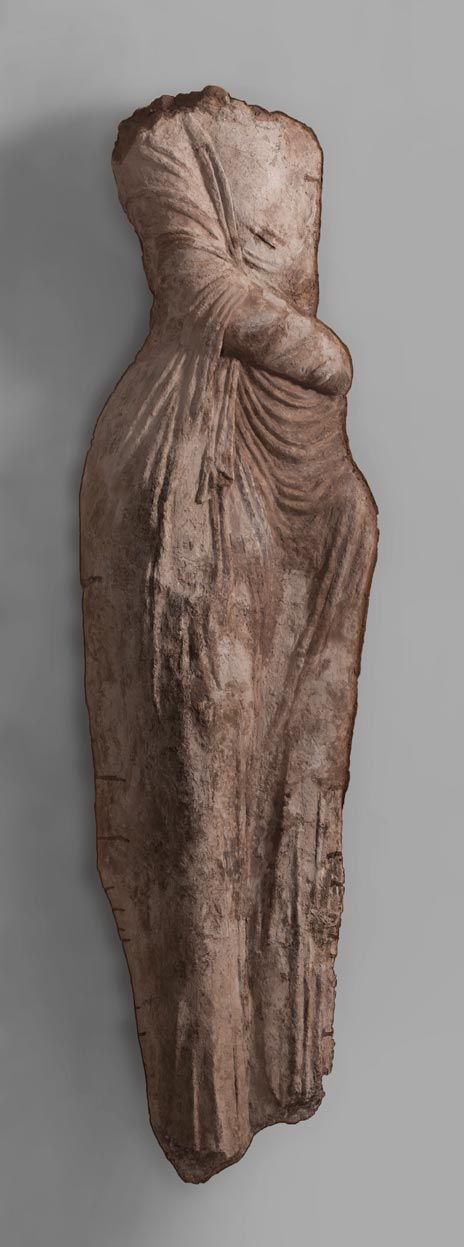 Goddess of Victory Chorasmia, Toprak-Kala, 3rd–4th century Clay; moulded, painted © State Hermitage Museum, St Petersburg