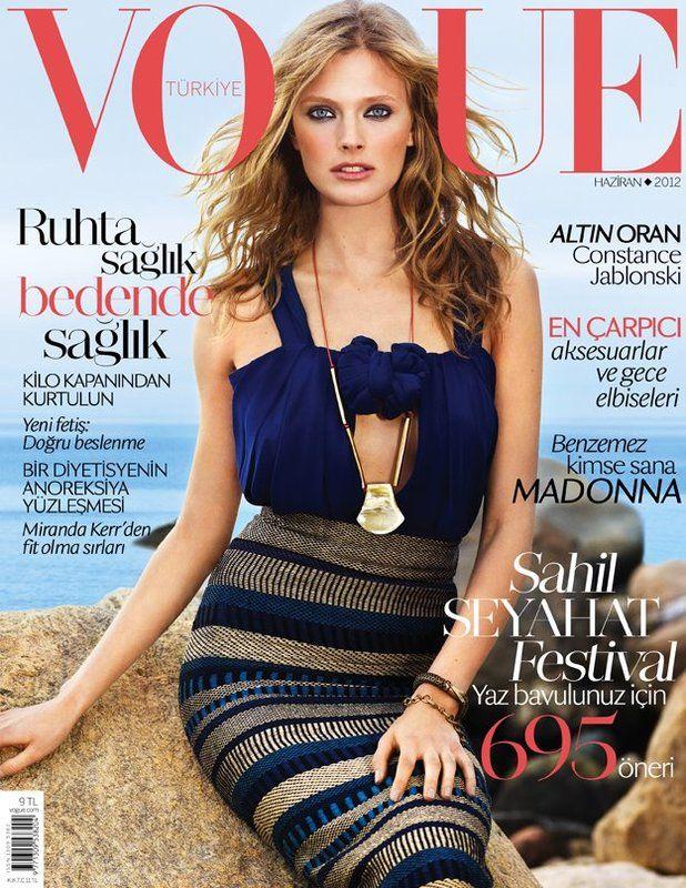 Vogue Turkey June 2012: Constance Jablonski by KT Auleta: Vogue Turkey, June 2012, Burberry Prorsum, Turkey June, Vogue Magazines, Magazines Covers, French Models, Constanc Jablonski, The Sea