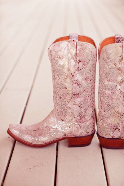 these are some wedding day cowboy boots for sure!
