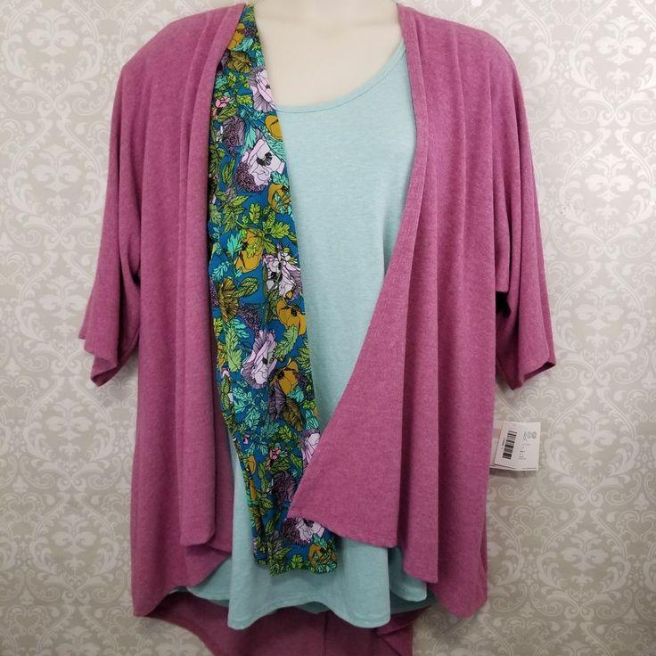 LuLaRoe 3 pc Outfit - 3X Perfect Tee, Floral TC Leggings & Polar Fleece Lindsay #LuLaRoe #outfit