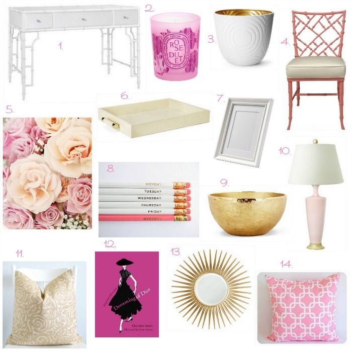17 Best ideas about Pink Gold Office on Pinterest Pink
