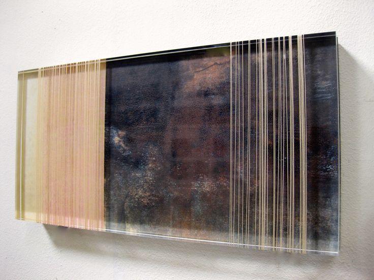 Anna Morris, 'Shift', acrylic, oiled paper, thread, 2015