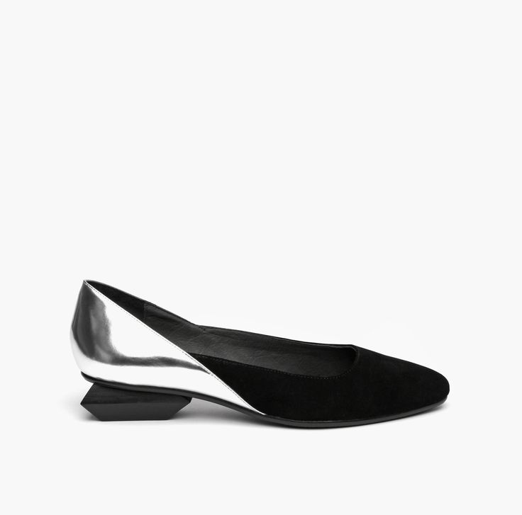 Jacky Ballet Black & Silver
