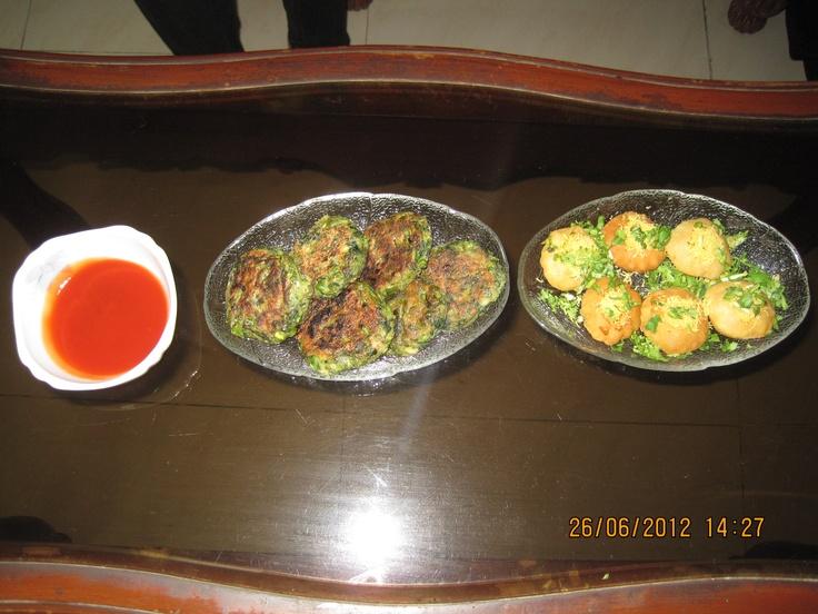 Hara Bhara Kebab & Tawa Paneer Chat