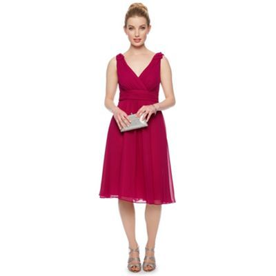 Debut Keira Chiffon Bow Shoulder Prom Dress- at Debenhams.com