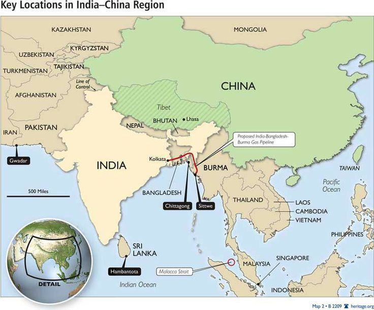 This is the ports of China and India, which were the main ports that traded within the Strait of Malacca.