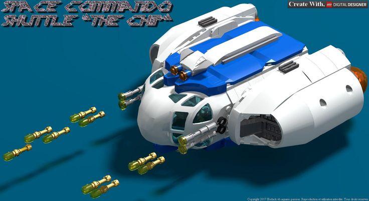 "https://flic.kr/s/aHsm344TsG   Lego Space Commando : Shuttle ""The Chip"""