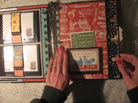 Large RECIPE Scrapbook Album AND New Tutorial (Also available w/METRIC Measurements!) - YouTube