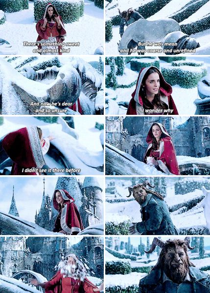 Emma Watson - Beauty and the Beast Snowball Fight